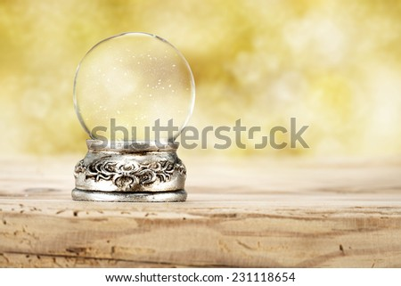 golden photo of glass ball  - stock photo