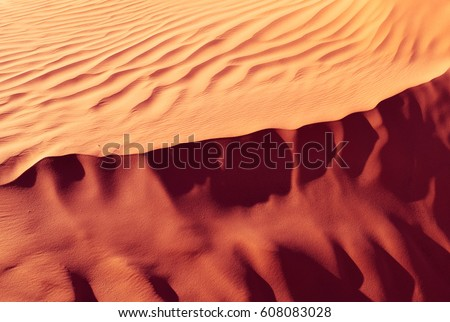 Authentic Desert Under Hot Sun Landscape Stock Photo