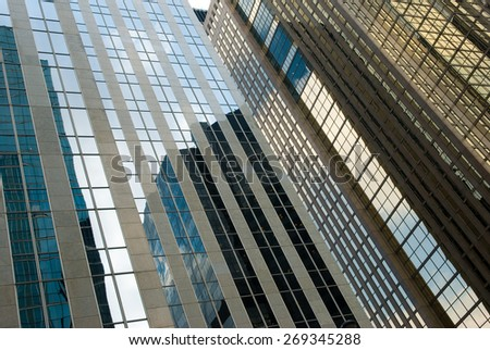 golden reflection, Toronto, Canada - stock photo