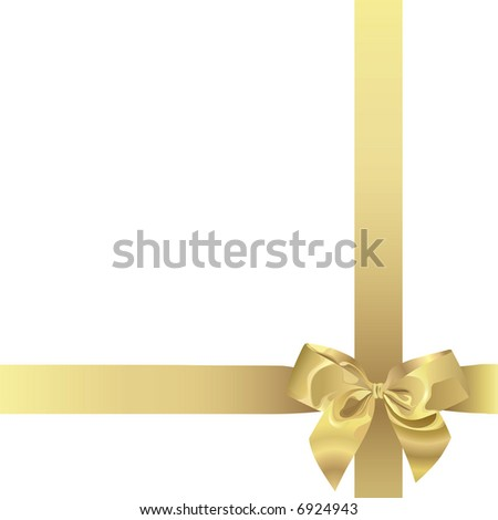 Golden Ribbon (also available vector version of this image in our gallery)