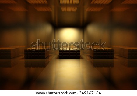 Golden room 3d render