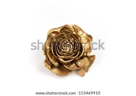 golden rose - stock photo