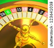 Golden roulette detail 3D rendering illustration. Photo - Realistic rendering. - stock vector
