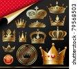 Golden royal design element - stock photo