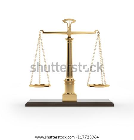 Golden Scales - stock photo