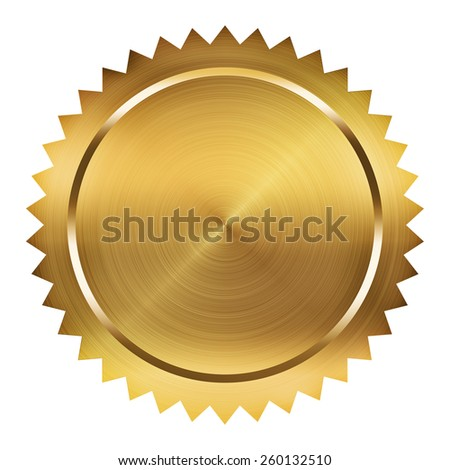 Golden Seal - stock photo