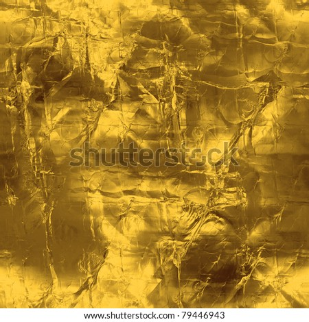 golden seamless texture - stock photo