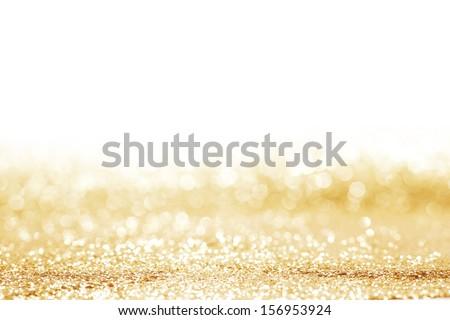 Golden shiny glitter holiday celebration background - stock photo