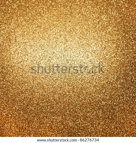 golden shiny lights. abstract background - stock photo