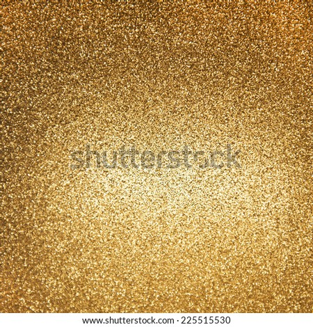 golden shiny lights. abstract festive holidays background - stock photo