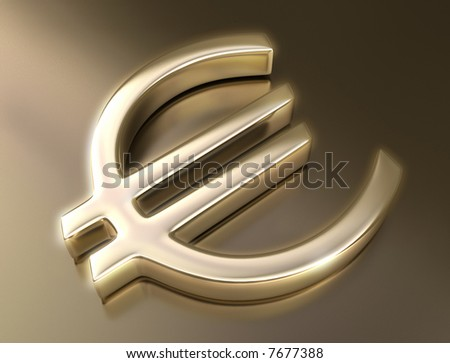 Golden sign euro. Concept of business and finances.