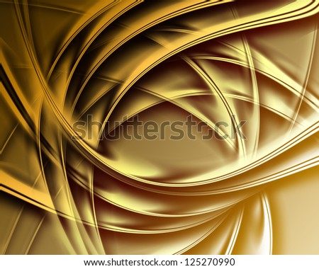 golden silk - elegant abstract background with smooth lines - stock photo