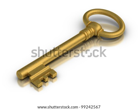 Golden skeleton key.