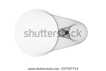 golden spiral shell grid - stock photo