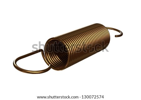 Golden springs - stock photo