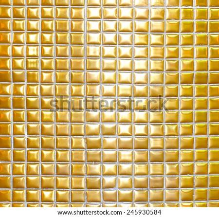 Golden square background - stock photo