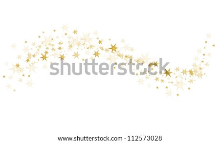 golden stars - stock photo