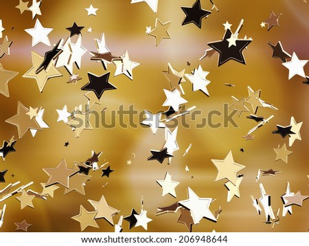 Golden stars. - stock photo