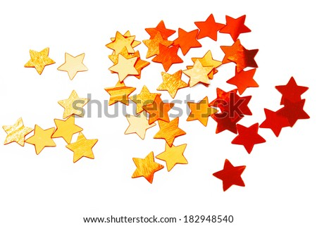 golden stars background - stock photo