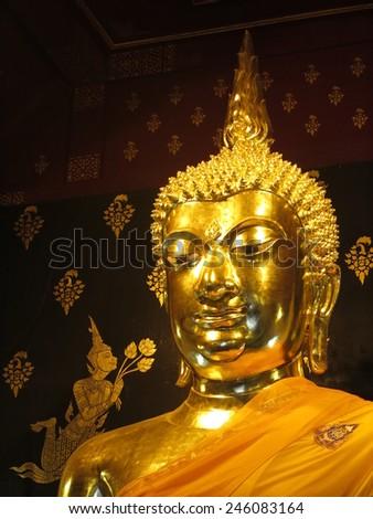Golden statue - stock photo