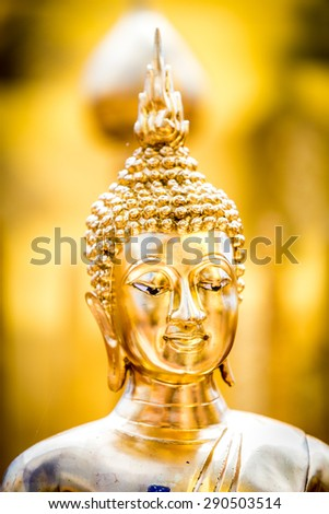 Golden statue of buddha in Wat Phra That Doi Suthep, Chiang Mai, Thailand - stock photo