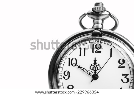 golden stopwatch clock isolated on white background