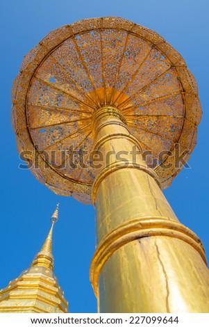 Golden Stupa on Doi Sutep - stock photo