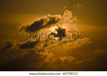 Golden Sunrise - stock photo