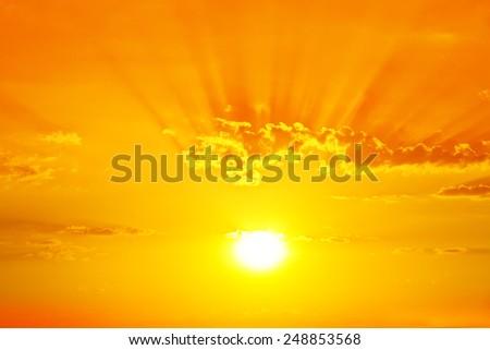 Golden Sunset - stock photo
