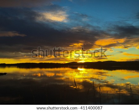 Golden Sunset on the Loch