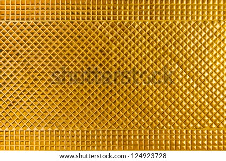 Golden tile background - stock photo