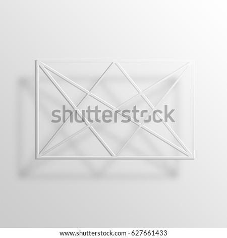 Golden Triangles 3D Paper Icon Symbol Business Concept
