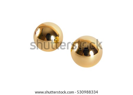Golden vaginal balls isolated
