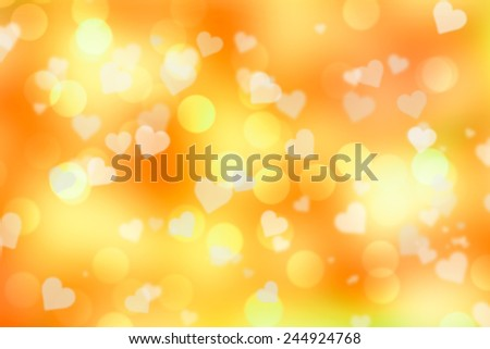 Golden valentine sparkle bokeh background or bokeh wallpaper