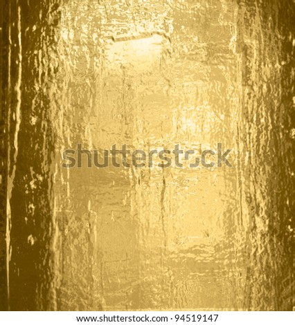 Golden wall - stock photo