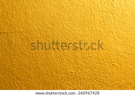 Golden wall, Texture Background - stock photo