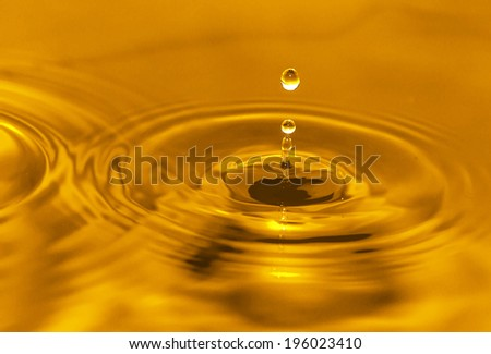 golden water