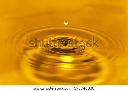 golden water - stock photo