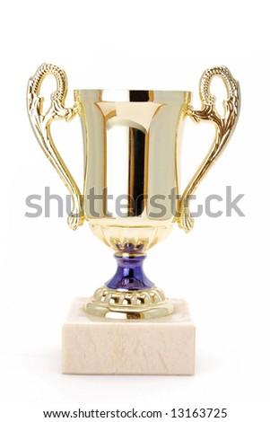 golden winner cup - stock photo
