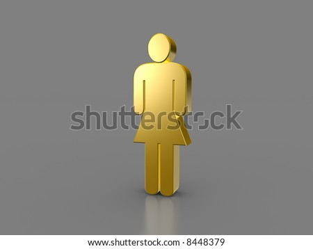 Golden Womansign - stock photo