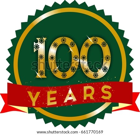 Golden 100 years logo golden 100 stock illustration 661770169 golden 100 years logo with red ribbon and gold text on stopboris Image collections