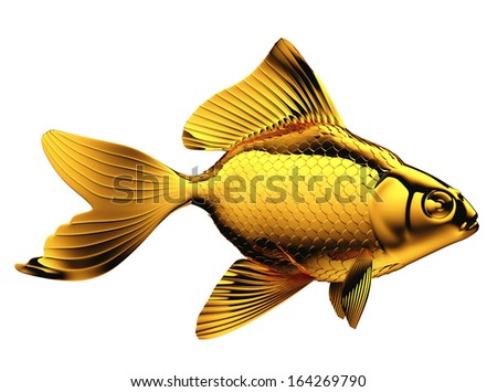 Goldfish with fins and scales isolated on white stock photo for Fish with scales and fins