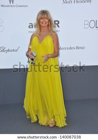Goldie Hawn at amfAR's 20th Cinema Against AIDS Gala at the Hotel du Cap d'Antibes, France May 23, 2013  Antibes, France - stock photo