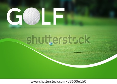 Golf Backdrop - stock photo