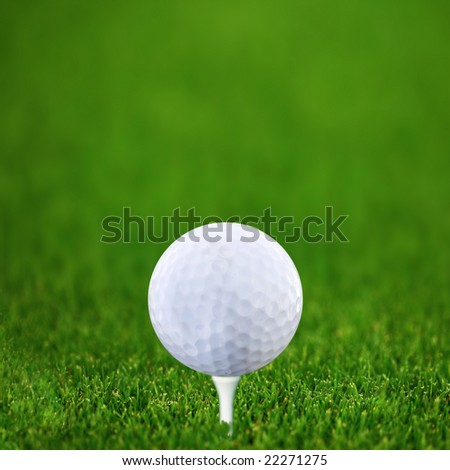 Golf-ball and green golf course Square