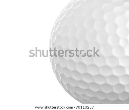 Golf ball closeup - stock photo