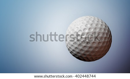 golf ball. 3D illustration