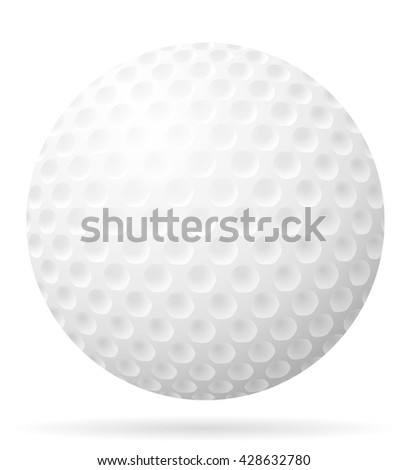 golf ball illustration isolated on white background - stock photo