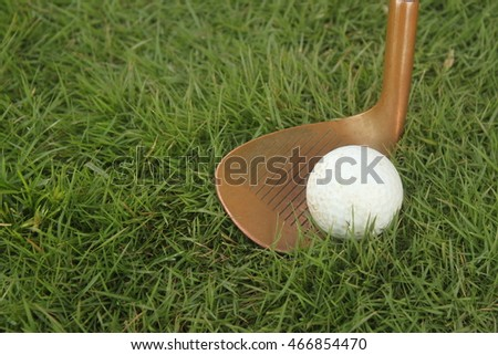golf ball in front of wage
