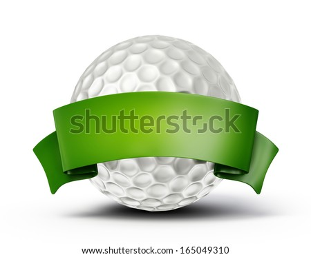 golf ball isolated on a white background - stock photo